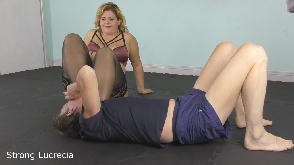 Strong lucrecia bbw wrestling foot domination